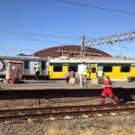 PHOTOS: showing the scene where 2 trains collided leaving 1 dead & 80 others hurt in JHB:  http://t.co/OOLaeAVaeT http://t.co/TeXiMhI5Um