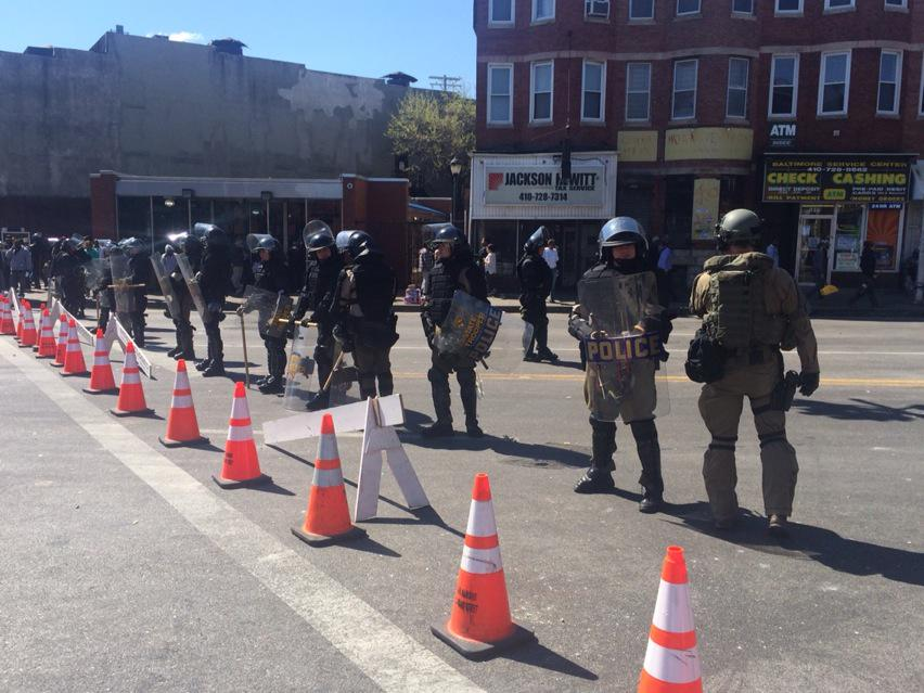 RT @marykbruce: State troopers out in full force while members of this Baltimore community clean up http://t.co/0fB4ozxdSt