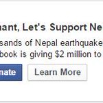 You can donate 2 #Nepal #earthquake survivors through @facebook & @Paytm https://t.co/5aLUDsoMNp #NepalQuakeRelief http://t.co/bJpc3I4xGv