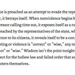 """""""Nonviolence As Compliance"""": @tanehisicoates on Baltimore http://t.co/wOfUXV330P http://t.co/zYavftE883"""