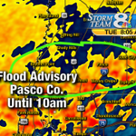 As expected, a Flood Advisory until 10am for Pasco County. Up to 3 inches of rain already. http://t.co/edqtekw2qn