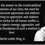 Nonviolence is the foundation of love #PrayForBaltimore #Baltimore #peace #MLK http://t.co/V31qWNah21