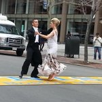 Marathon bombing survivor Adriannne Haslet dances across Boylston St. #wbz http://t.co/vrTjxoYUbW