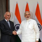 Agree with you President @ashrafghani! Your visit has truly added new momentum to the India-Afghanistan partnership. http://t.co/Cg5NIMkCa7
