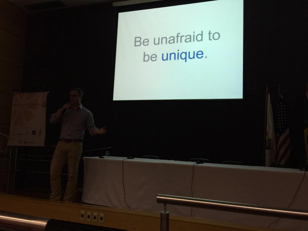 Quotable @brendanbaker Be unafraid to be unique http://t.co/A2NkouPJTq
