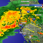 The widespread heavy rain is moving southeast. #tampa #tampaweather @abcactionnews @tampabaytraffic http://t.co/KG0XBQ0QNu