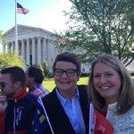Prop.8 case plaintiffs Kris & Sandy at #SCOTUS #LoveCantWait http://t.co/9eDwp3CsZy @HRC #MarriageEquality http://t.co/tDMvkMO7K0