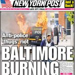 Delete (Anti). Substitute (riot) for (kill) and (burning) for (man). Now cover reads: Police thugs kill Baltimore man http://t.co/nB6my468kV