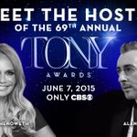 We are so excited for this years hosts @KChenoweth and @Alancumming! Tune in Sunday, June 7 2015 8/7c Only @CBS http://t.co/awWprlCEtR