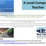 RT@BAYHOUSESCHOOL - A Level Computing Teacher required. Shape the curriculum; apply http://t.co/F8LpsdSBuf http://t.co/GsD0FBteCm