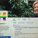 .@HillaryClinton goes w/ the rainbow avatar in honor of SCOTUS day. #NewClintonClassic http://t.co/Adsh1pme6y