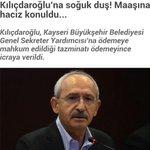 Kılıçdaroğluna soğuk duş! Maaşına haciz konuldu...#TG http://t.co/OjSKHxvcPt @turkiyegazetesi  Dürüst adama olmazbu http://t.co/IsU6K60xLz