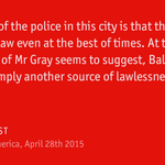 A week ago Freddie Gray, a 25yr-old black man, died in hospital. Now there is chaos #Baltimore http://t.co/A29IpBdjXr http://t.co/akGrJCxjjU