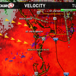 Winds gusting to 35-45mph possible in this cell moving onshore near St Pete Beach. Radar --> http://t.co/rUSuAEyILg http://t.co/YYHPtCxe6Y