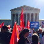 At #SCOTUS, overwhelming support for marriage equality. #LoveCantWait #LoveMustWin http://t.co/4J5OVkuvBs