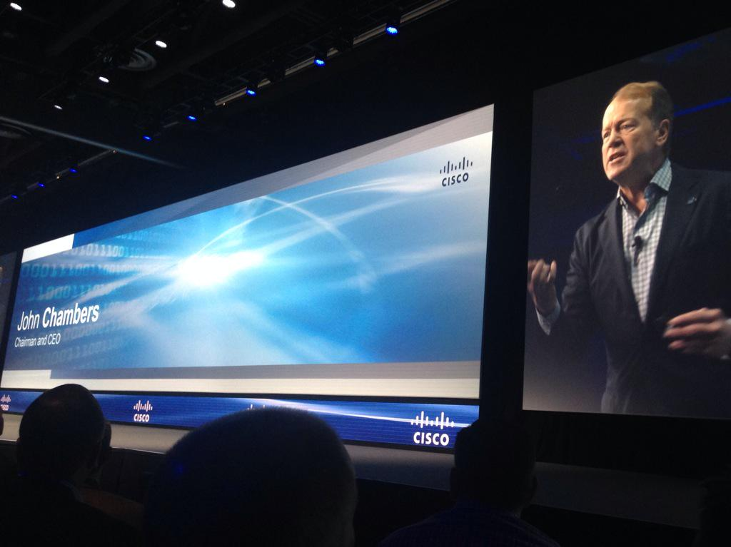 "CEO John Chambers takes the floor at #ciscops15. ""This year will be the year every company becomes a digital one"" http://t.co/2VWdRAW2fB"
