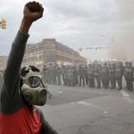 There were nearly 200 arrests in unrest that broke out in Baltimore, mayors office said http://t.co/2DGPtknK3g http://t.co/MlimEgE2mF