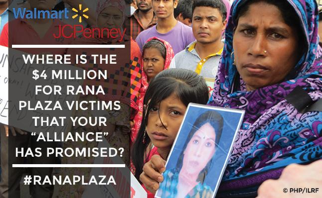.@Walmart & @jcpenney: where's the @TheAllianceBD's contribution promised to the #RanaPlaza Trust Fund? http://t.co/DiG9vGMXcD