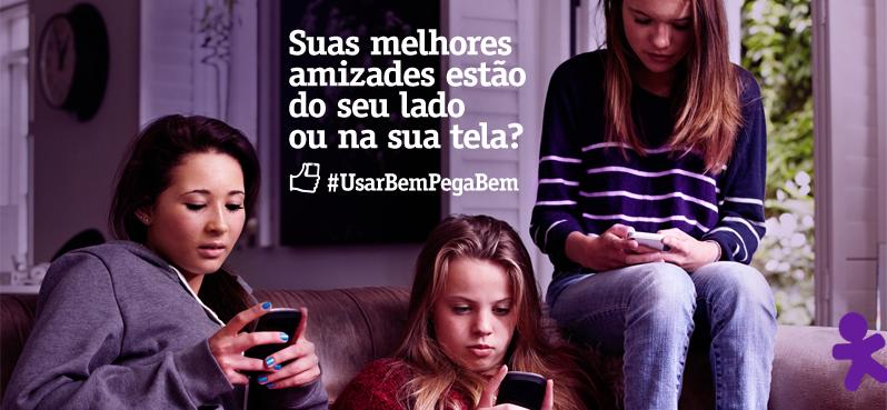 Já experimentou guardar o celular quando suas amizades estão com você? Celular, #UsarBemPegaBem http://t.co/66Dm3T1Ovg