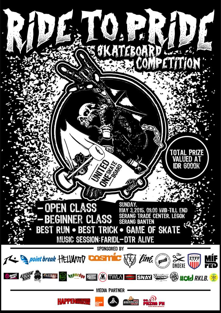 Ride To Pride Skateboard Comp. Sunday, May 3rd 2015. at Serang Trade Center, Legok Serang-Banten @COSMICserang :) http://t.co/zeEBrFrewQ