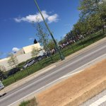 People up mondawmin cleaning the neighborhood. I LOVE YOU BALTIMORE http://t.co/R0vvr6wMnN