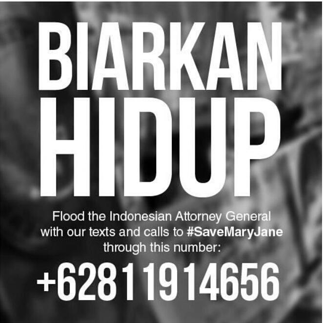 Please mobilise others. #biarkanhidup #SaveMaryJane http://t.co/1dzW4vjXb3