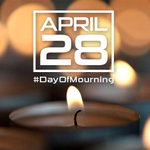 Toronto firefighters recognize #dayofmourning - honouring workers injured or killed while at work. Stay safe. #canlab http://t.co/ZyHYFPY5Wp