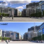 Spot the differences (apart from the clouds & people!) at #Southampton #ArtsComplex building...@Grosvenor_GBI http://t.co/BYv2fRiCpG