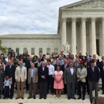 The plaintiffs & legal teams putting it all on the line for love today. We stand with you! #LoveMustWin #NOH8 #SCOTUS http://t.co/Vt71uZYtTC