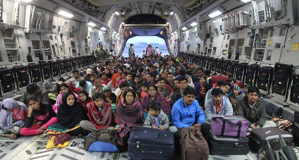 I always wondered why do air forces keep those big bulky planes..  Till I saw #NepalQuakeRelief by Indian Air Force! http://t.co/gwTwIaHCqL