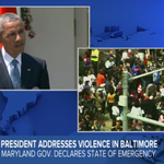 ALERT: @ABC News Special Report: Pres. Obama speaks on Baltimore: http://t.co/YoGbFPeee6 http://t.co/a5c8jZqelY