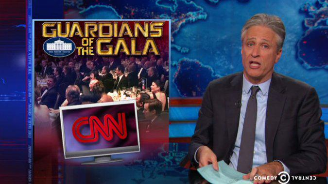 Jon Stewart Mocks CNN's Baltimore Coverage With 'Hunger Games' Parody