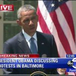 """Obama: """"Well try to find areas where we can make a difference."""" #abc7ny #BaltimoreRiots #Baltimore http://t.co/Mk9kYg6bCC"""