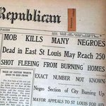 In 1917 whites rioted in East St. Louis killing over 200 black people. But yall mad about 5 stores being looted. http://t.co/5wIoA6A3SL