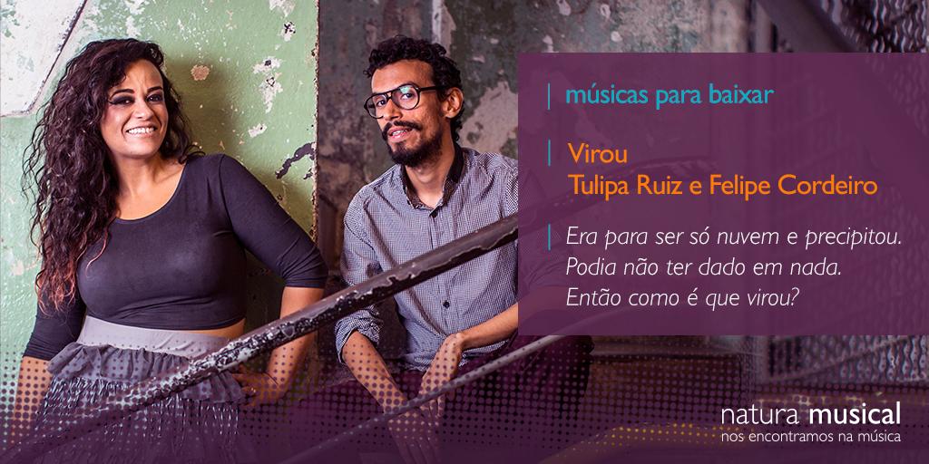"""Baixe e ouça o novo single de @tuliparuiz em parceria com @OFelipeCordeiro , """"Virou"""". http://t.co/8Ovplkdl1W http://t.co/NmvOSf9YLw"""