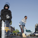 Baltimore sweeps up the ashes after a night of looting, arson, and violence: http://t.co/zJGV40Yw7s #FreddieGray http://t.co/MYwq0uk6jW