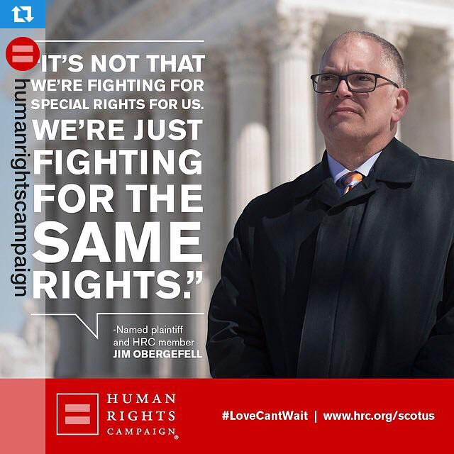 #Repost w/ @humanrightscampaign・Right now #SCOTUS is hearing oral arguments. Obergefell v. Hodges #LGBT #LoveCantWait http://t.co/kWD06TINRv