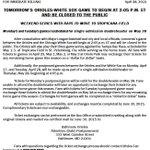 Orioles announcement regarding schedule changes http://t.co/nwCDyqjzWs