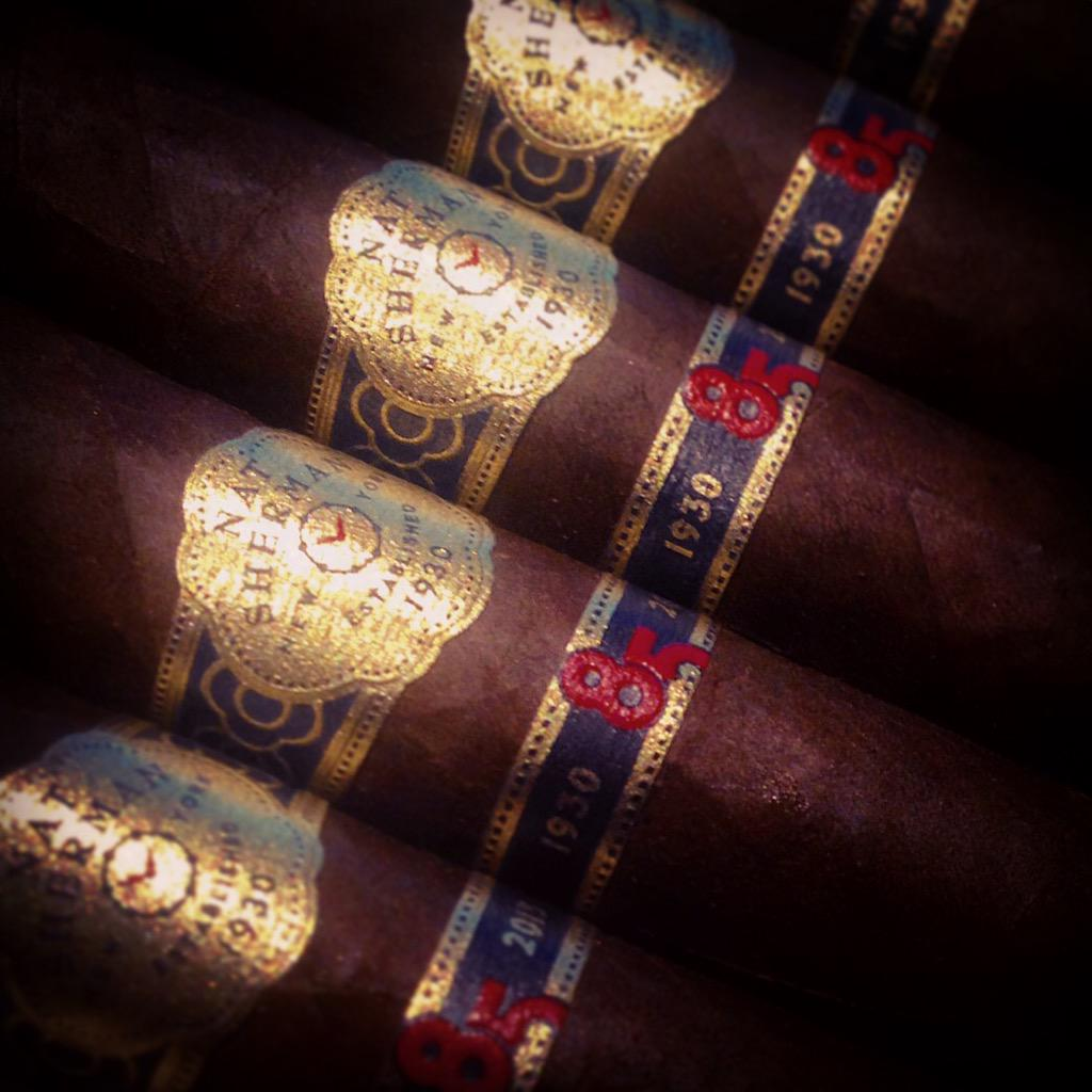 The #NatSherman 85th Anniversary #Cigars are coming soon. http://t.co/qKLHiOK8mb