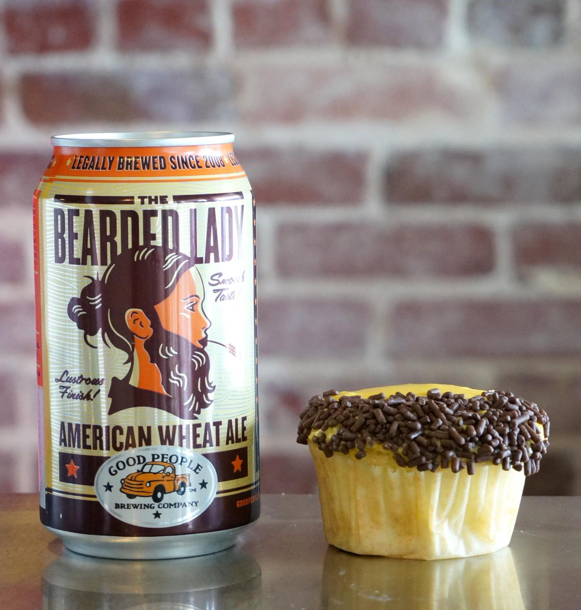 They're in the case today! @GPBrewing Bearded Lady Cupcakes! #Cupcakes #Beer http://t.co/9GQYFjziHZ