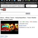 RT @TamilaninCinema: #MASSS TEASER - crosses 1.5 Million views @YouTube in just 4 days. Remains No.1 POPULAR VIDEO on @YouTubeIndia