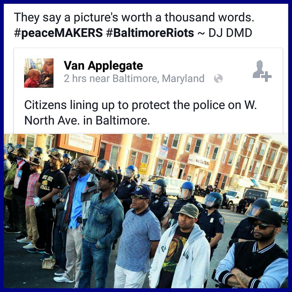 They say a picture's worth a thousand words. See the picture. Share it. We gon make it thru this. #BaltimoreRiots http://t.co/mWIOhgAGae