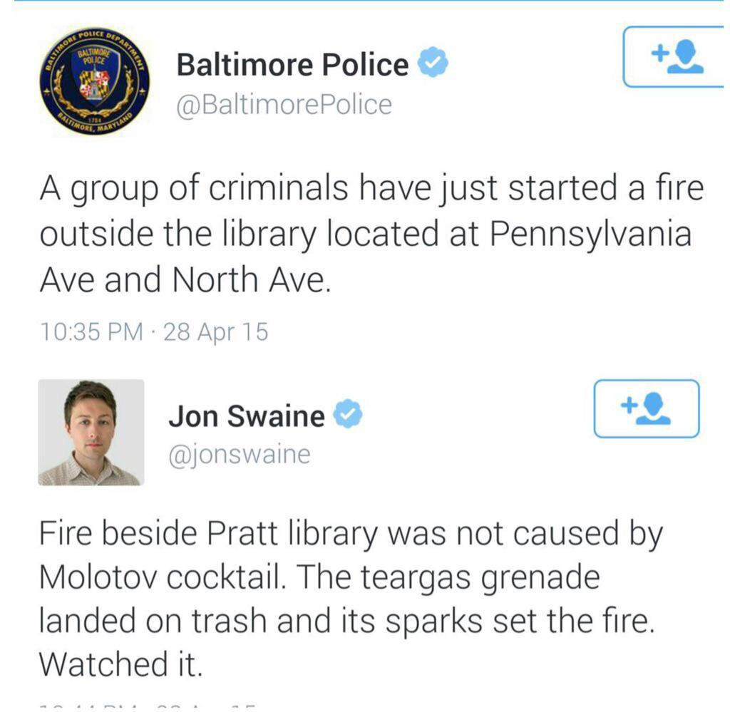 This just happened in Baltimore #FreddieGray http://t.co/uXX2Hxjd0Z