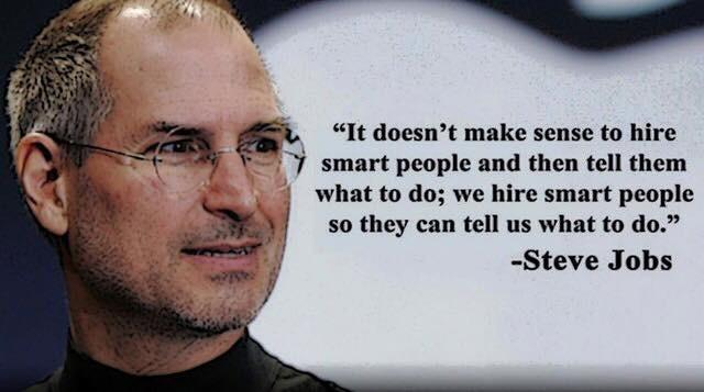 Steve Jobs on hiring and enabling smart people, via @Jshetty1 http://t.co/wO6QfenT9Z #leadership #CEO