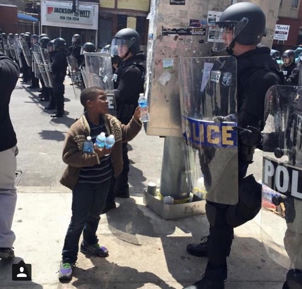 A moving image in the midst of madness:  http://t.co/TlvvhfjXVs #BaltimoreRiots