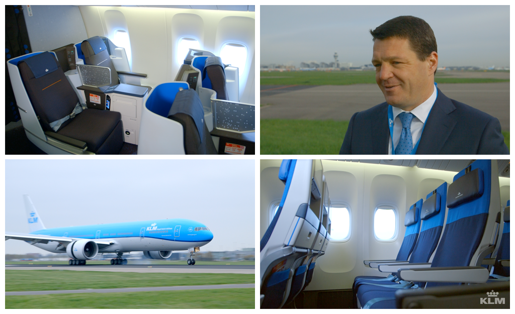 KLM welcomes its latest Boeing 777-300. Interview with Pieter Elbers, KLM CEO & President -