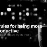 Design-Hacking Life: 7 Rules for Being More Productive: http://t.co/ahTCz0nEkH http://t.co/4yhbG9lwqH