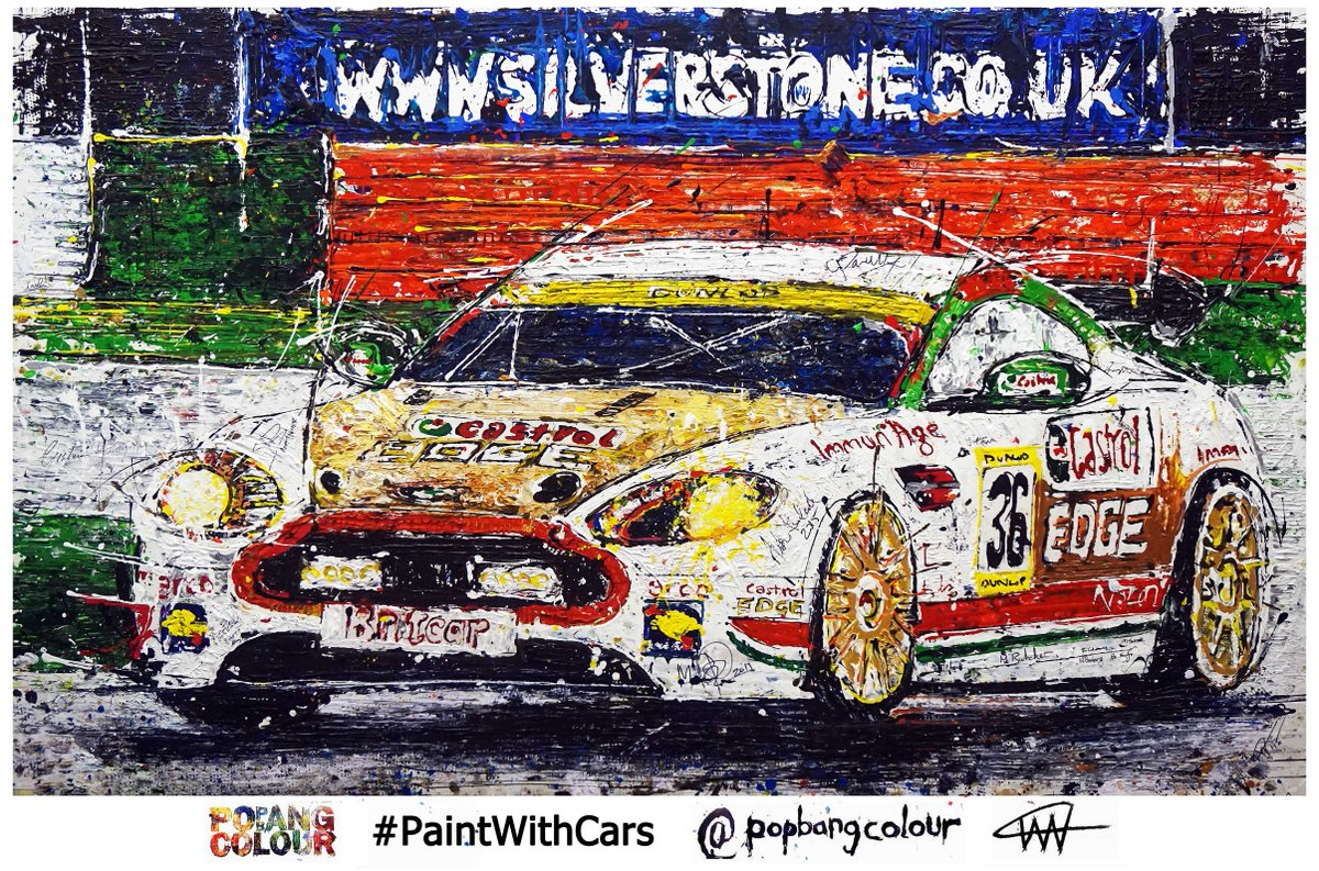If you missed it here's the @astonmartin Vantage @Popbangcolour artwork created @BritcarNews #Dunlop24 @SilverstoneUK http://t.co/uWWdedaBDS