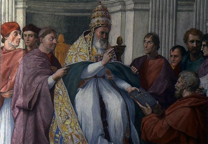 Tohle dílo mě nikdy nepřestane fascinovat. Sylvester Stallone na fresce pozoruje, jak Řehoř IX žehná svým dekretálům. http://t.co/gnmgVoyFBo