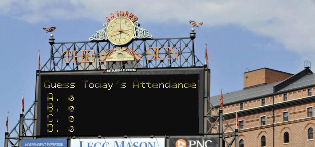"Ready to ""Guess the Attendance?"".#Orioles http://t.co/li8T3qHie0 MT @ChrisMonty"
